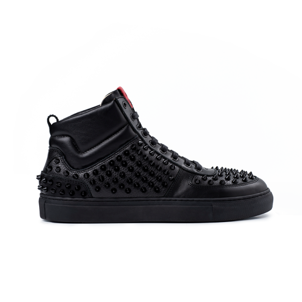 8016 High Top Sneaker - Pointy Black